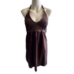 Victoria Secret Brown Halter Backless Dress